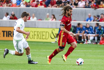 Real Salt Lake versus Seattle Sounders at Rio Tinto Stadium on 06-28-2016 for the Lamar Hunt U.S. Open Cup. RSL loses to the Sounders on penalty kicks 1-1  (1-4 Shoot Out). #asone  #believe #usoc2016  ©2016 Bryan Byerly
