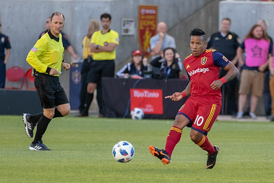 Real Salt Lake vs Seattle Sounders at Rio Tinto Stadium in Sandy, UT. 06-02-2018. RSL defeat the Sounders 2-0. © 2018 Bryan Byerly