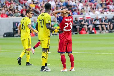 Sandy, UT - Wednesday July 03, 2019: Real Salt Lake vs Columbus Crew at Rio Tinto Stadium. ©2019 Bryan Byerly