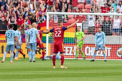 Sandy, UT - Saturday June 29, 2019: Real Salt Lake vs Sporting KC at Rio Tinto Stadium. ©2019 Bryan Byerly