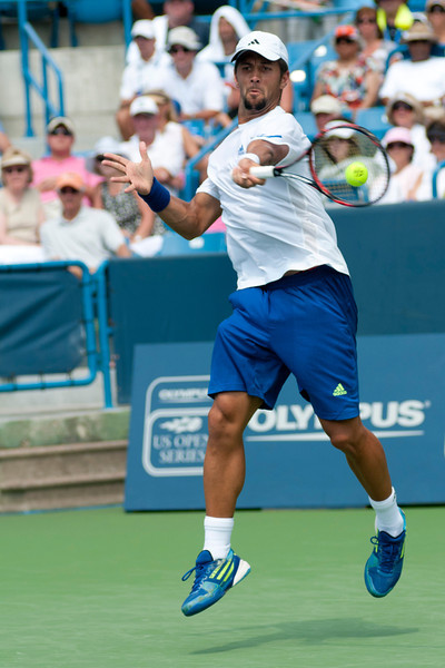 Fernando Verdasco (ESP) in action at the W & S Open being played at the Linder Family Tennis Center in Mason,Ohio. Rafael Nadal (ESP) defeated Fernando Verdasco (ESP) (7-6) (6-7) (7-6) with three tie breaks.