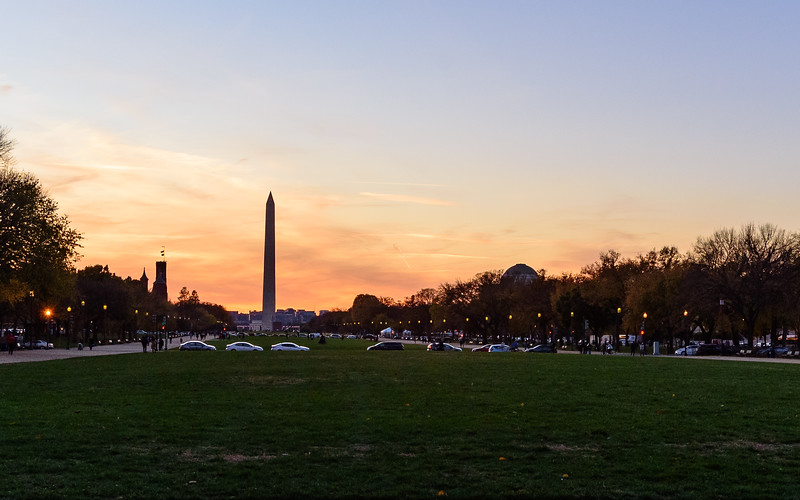 National Mall and Washington Monument at sunset