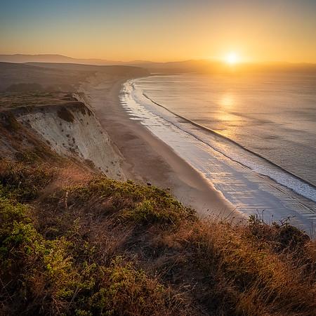 Sunrise from the Seashore Bluffs