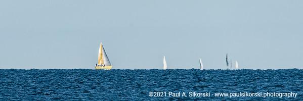 Sailboats on the Horizon