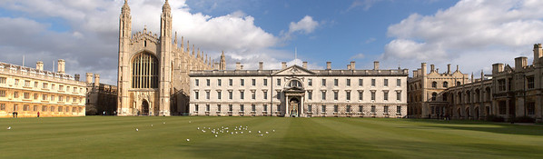Panorama of King's College Chapel and Gibbs Building