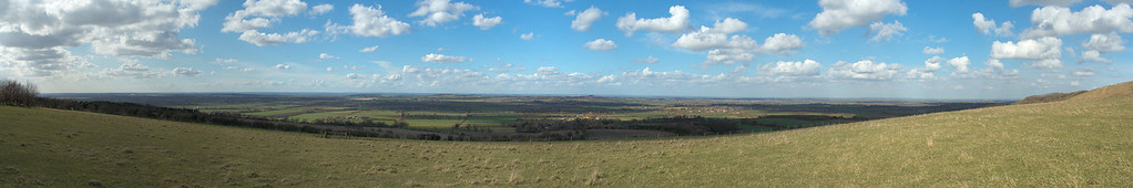 Panoramic view of the Valley of the White Horse