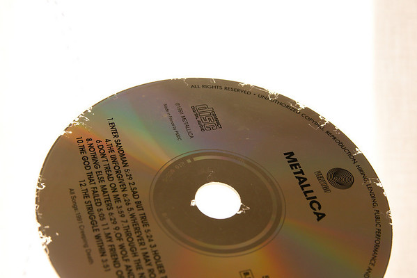 eroded compact disc