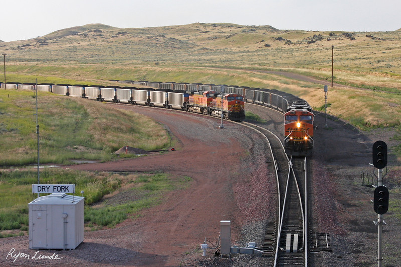 Coal Trains.  Gillette, Wyoming