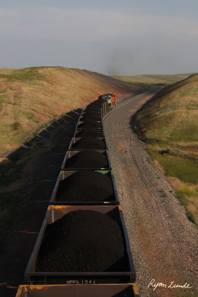 Coal Train.  Gillette, Wyoming