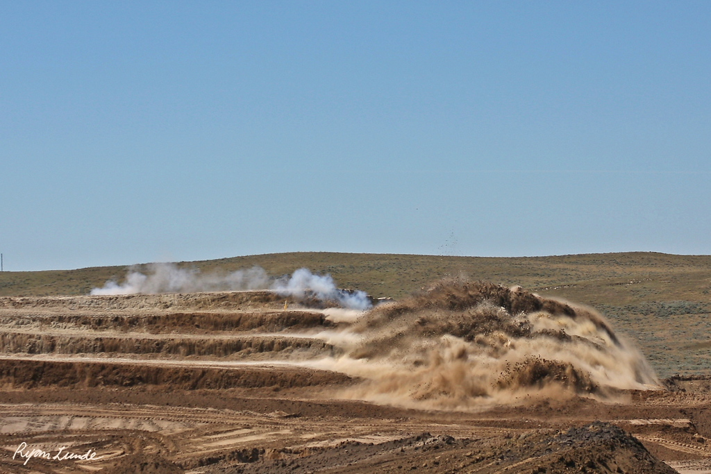 Overburden Shot.  Gillette, Wyoming