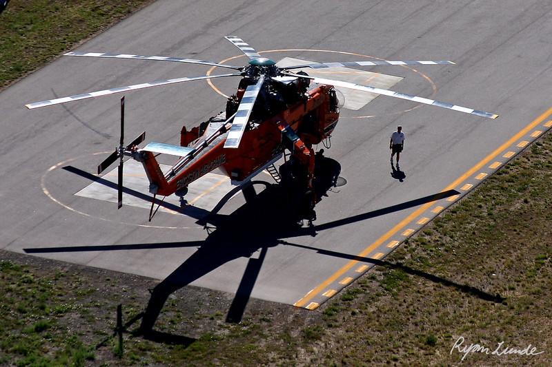 Sikorsky Skycrane Helicopter.  Broomfield, Colorado