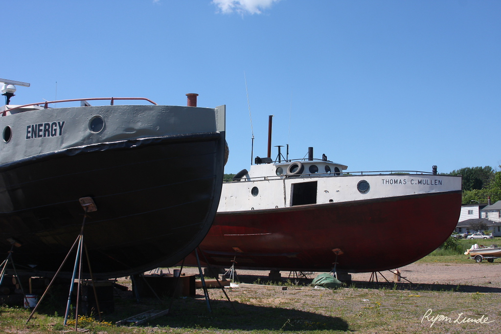 "Workboats ""Energy"" and ""Thomas C Mullen.""  Bayfield, Wisconsin"