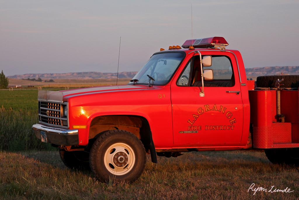 Firetruck.  La Grange, Wyoming