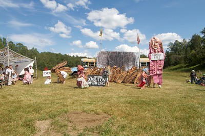Bread & Puppet July 16, Glover, VT.