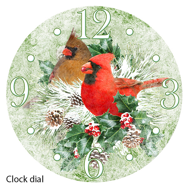 Digital art for clock face