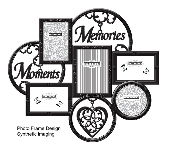 Wall photoframe design