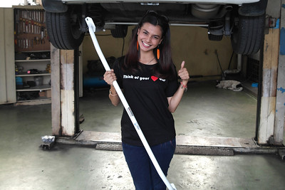 Ezzaty Abdullah with Vehicle Safety Bar - Malaysia Artist