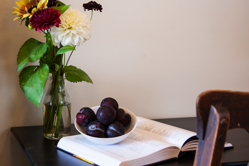 Creating a Recipe that Showcases the Flavors of Farm Fresh to You Black Plums using The Flavor Bible