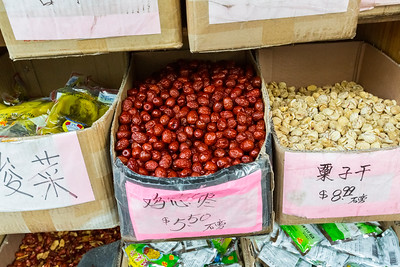 Pickled Cabbage, Dried Dates, Dried Chestnuts. Chinatown (Grant Avenue) - San Francisco, CA, USA