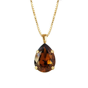 CLASSIC DROP NECKLACE / SMOKED TOPAZ
