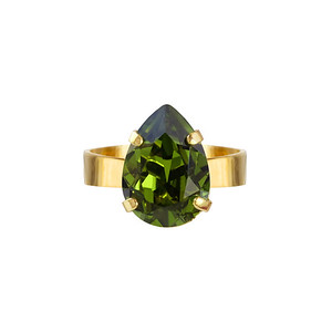 MINI DROP RING / OLIVINE