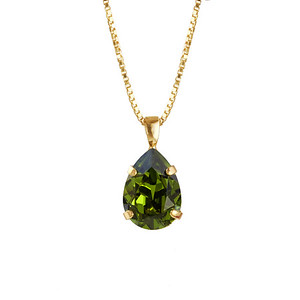 MINI DROP NECKLACE / OLIVINE