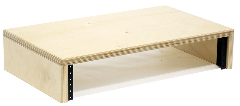 Baltic Birch Computer Monitor Stand with Rack Rails | 2U