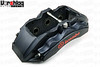 Brembo 6-piston Satin Black aluminum calipers