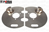 "Vorshlag Corvette C6 Satinless Steel Brake Backing Plate w/3"" Round Duct"