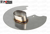 "S197 Stainless Steel Brake Backing Plate w/4"" Oval Duct"