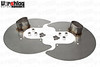 "S197 Satinless Steel Brake Backing Plate w/3"" Oval Duct"