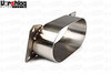 "S550 Stainless Steel Brake Duct Inlet w/4"" Oval Duct"