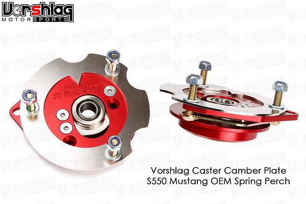 Vorshlag S550 Caster Camber Plate for OEM Spring