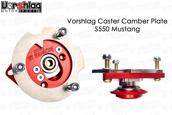 Vorshlag S550 Caster Camber Plate for Coilover Style Spring