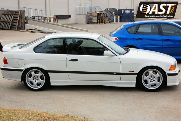 BMW E36 M3 with AST 4100 shocks and Vorshlag camber-caster plates