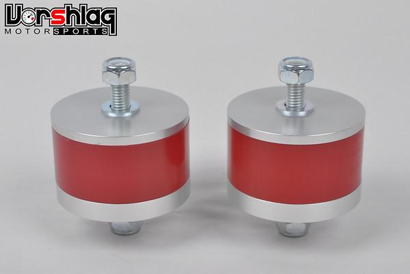 Vorshlag Competition motor mounts for E30, in 95A durometer Polyurethane