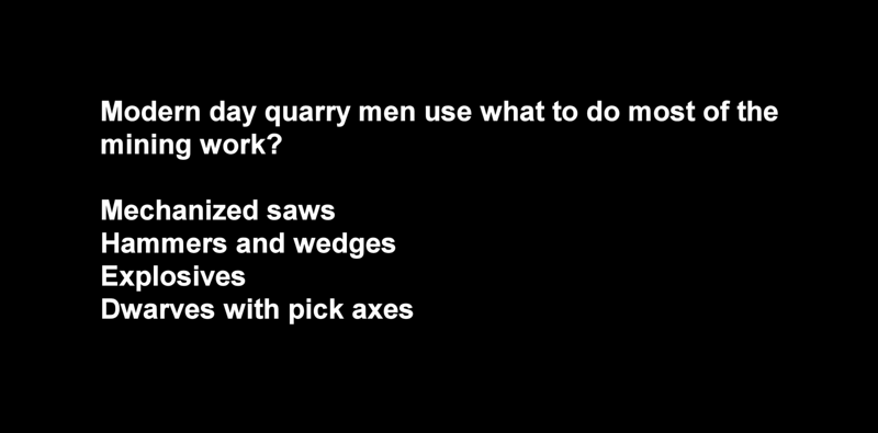 ANSWER:  Mechanized saws