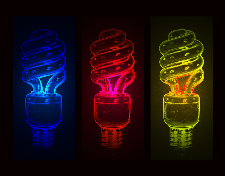 N:VISION soft white bulbs (3 panel composite) by Jon Gorr