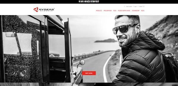 Ryders Eyewear Homepage
