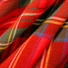 Close up of tartan fabric.