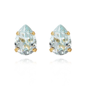 Mini Drop Stud Earring / Light Azore