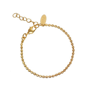Diamond Chain Bracelet/ Gold Metal