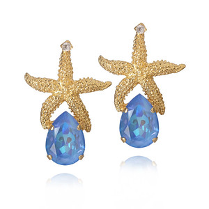 Sea Star Drop Earrings/ Ocean Blue Delite