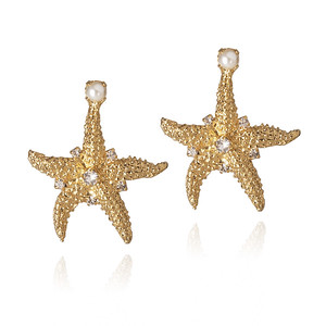 Sea Star Earrings/ Pearl
