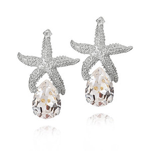 Sea Star Drop Earrings/ Crystal