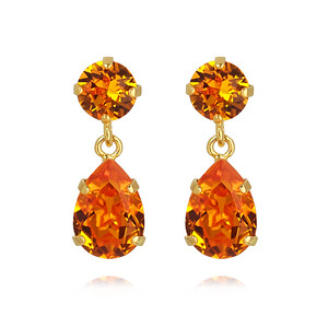Mini Drop Earrings / Tangerine