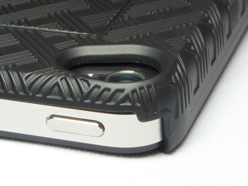There is an air gap between the inside surface of the Shell, and the glass back of your iPhone 4.
