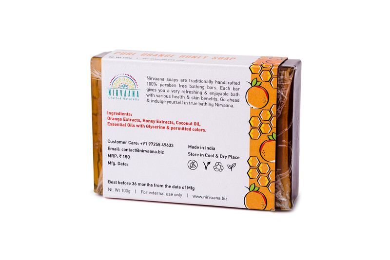 Pure Orange Honey Soap-3