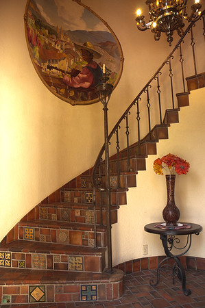 Turret Stairs, Painting by Leroy Green