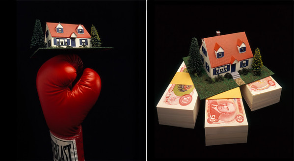"Illustrating an article titled ""Fighting for Your Mortgage""."